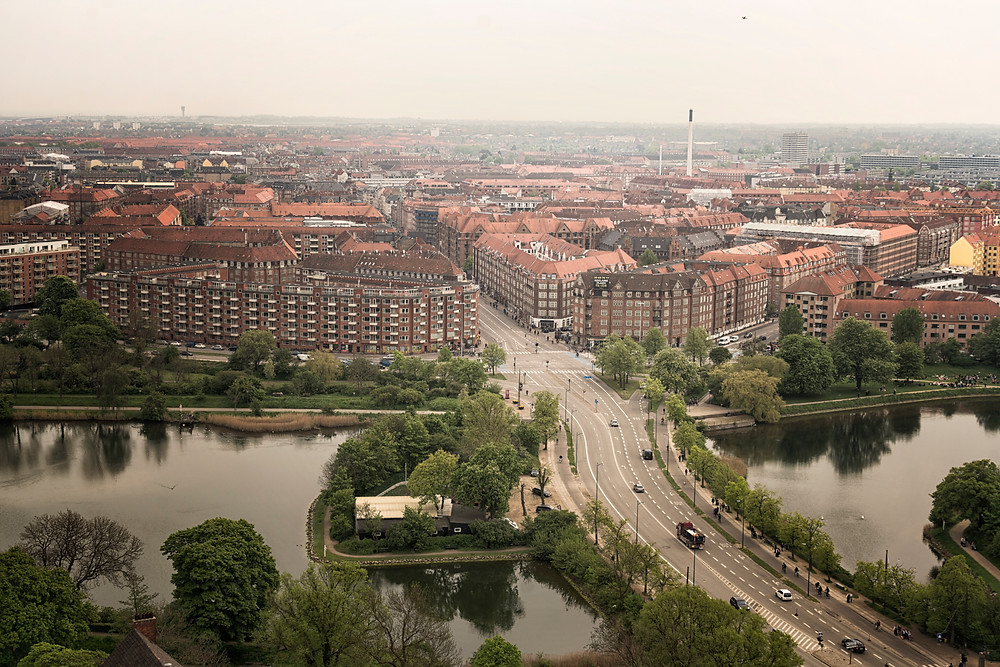 View of Copenhagen from the Church of our Saviour