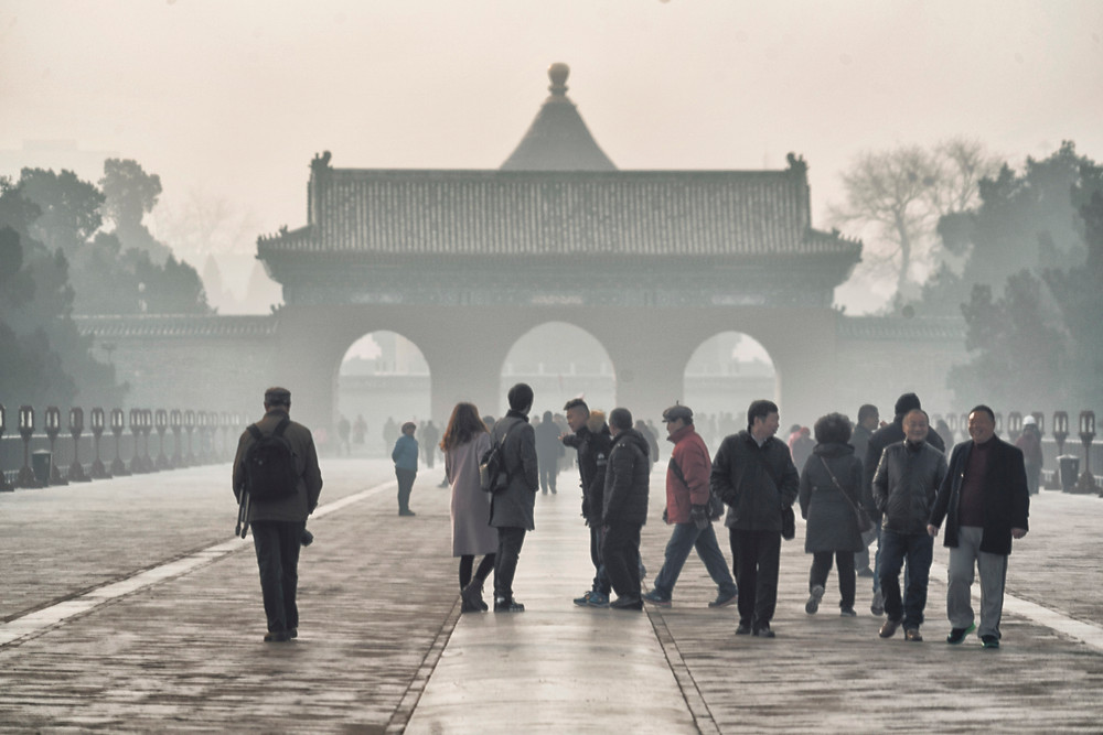 The smog in Beijing was almost unbearable