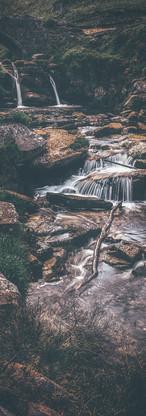 Three Shires Head Waterfall -  England