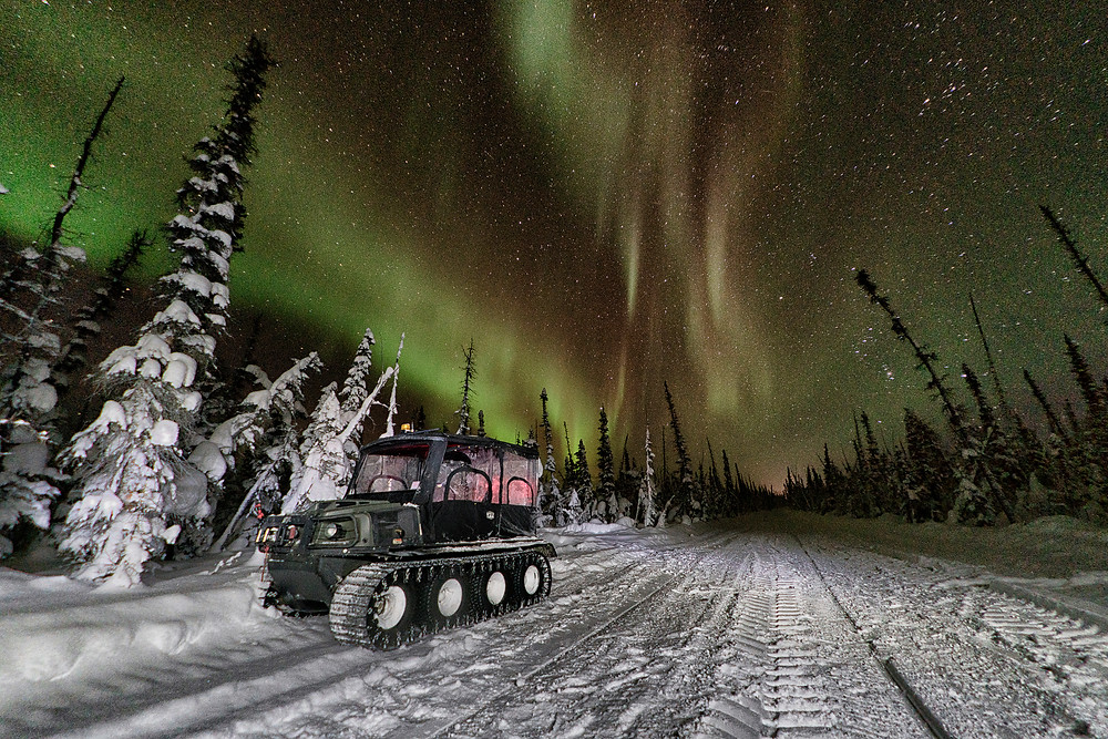 Northern Lights over our daily vehicle