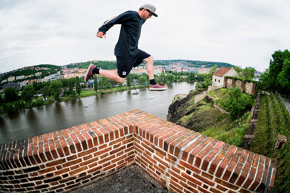 The walls of Vyšehrad are pretty stable