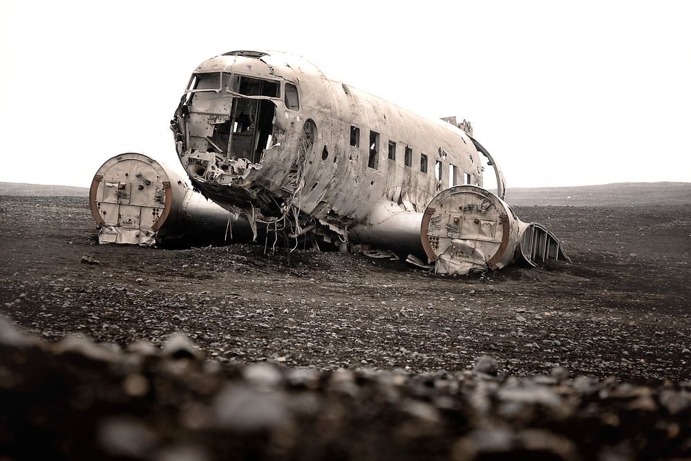 One of the main goals on both of our lists was this crashed airplane