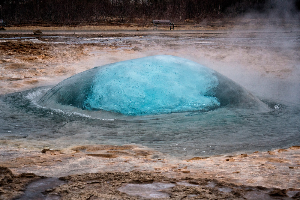 Was able to capture this one just as Strokkur was about to blow