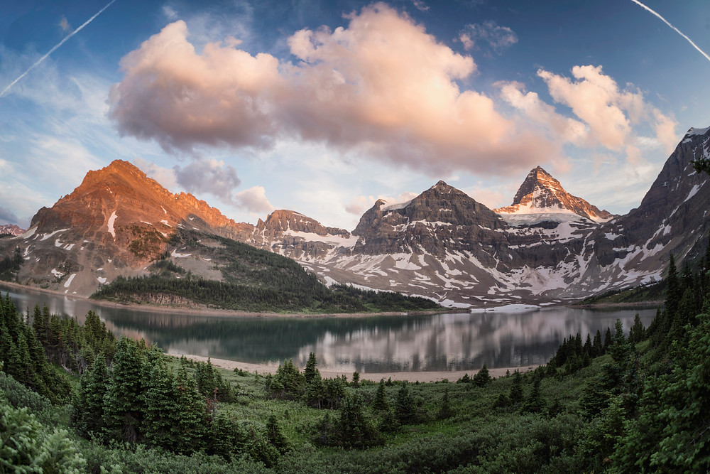 Sunset at Mt. Assiniboine