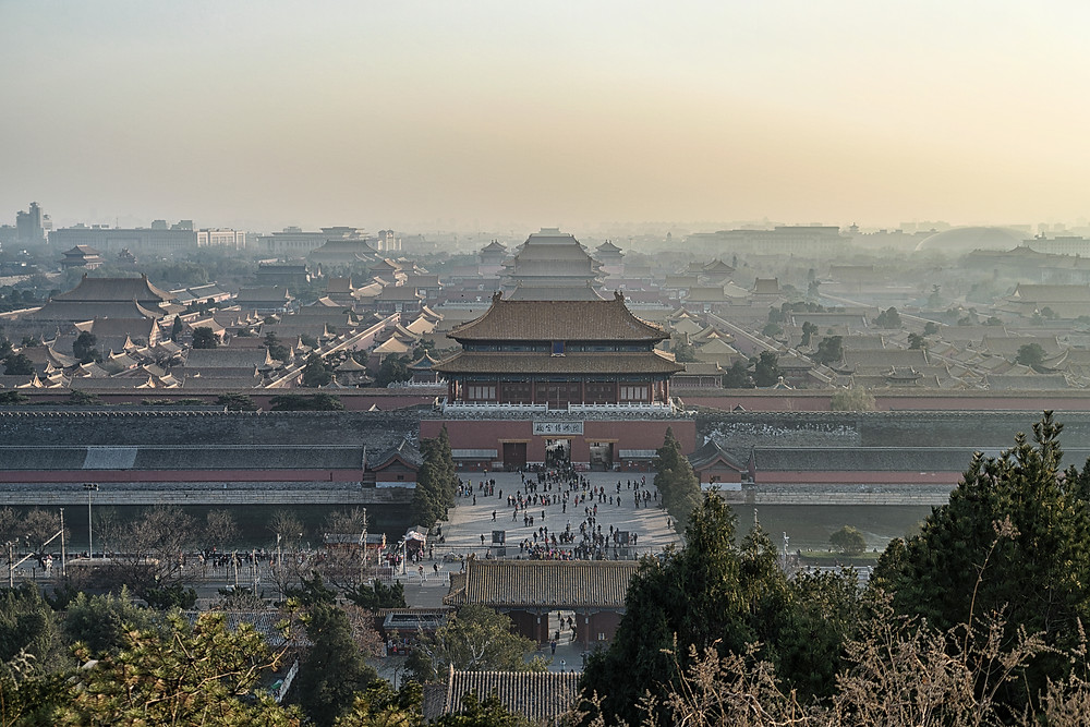 The Forbidden City in the smog