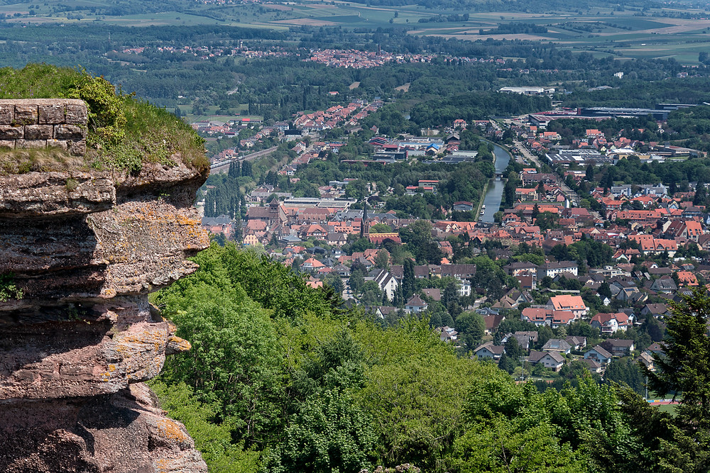 The view from atop Chateau du Haut Barr