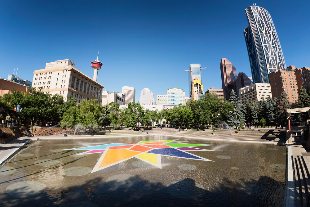 Olympic Square in Calgary