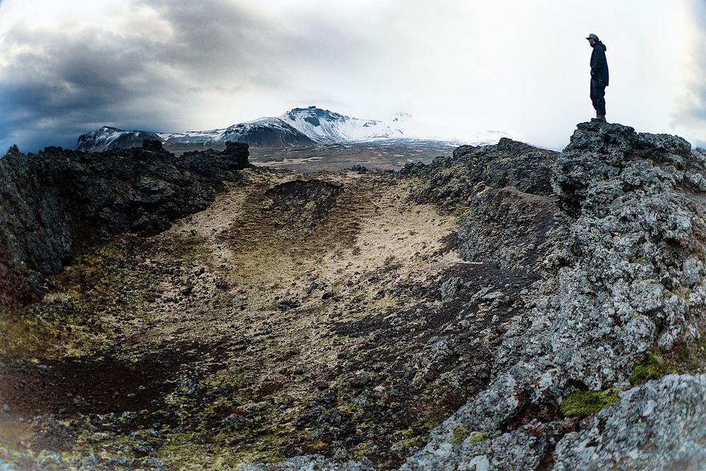 Saxholl Volcano Crater