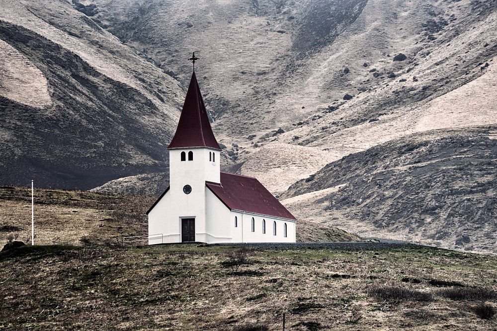 The famous church of Vik