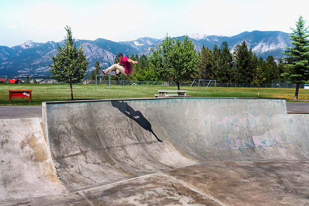 Corey may be part of our BMX group but he's a shredder on a board!