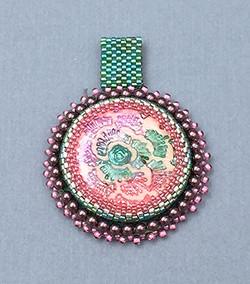 Bead Mebroidered Pendant 3