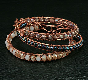 Snake Weave Wire Cuff