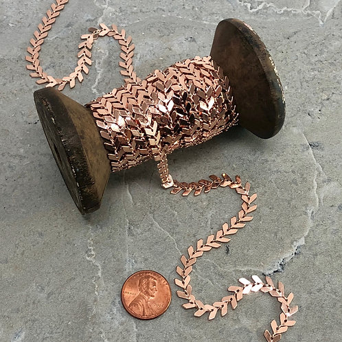 6.5mm Chevron Chain Available In 9 Finishes   10ft Spools