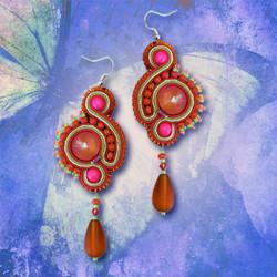 Serendipity Orange Earrings