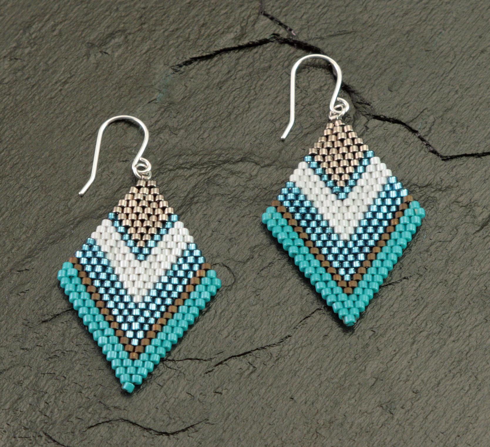 Brick Stitch Chervon Earrings