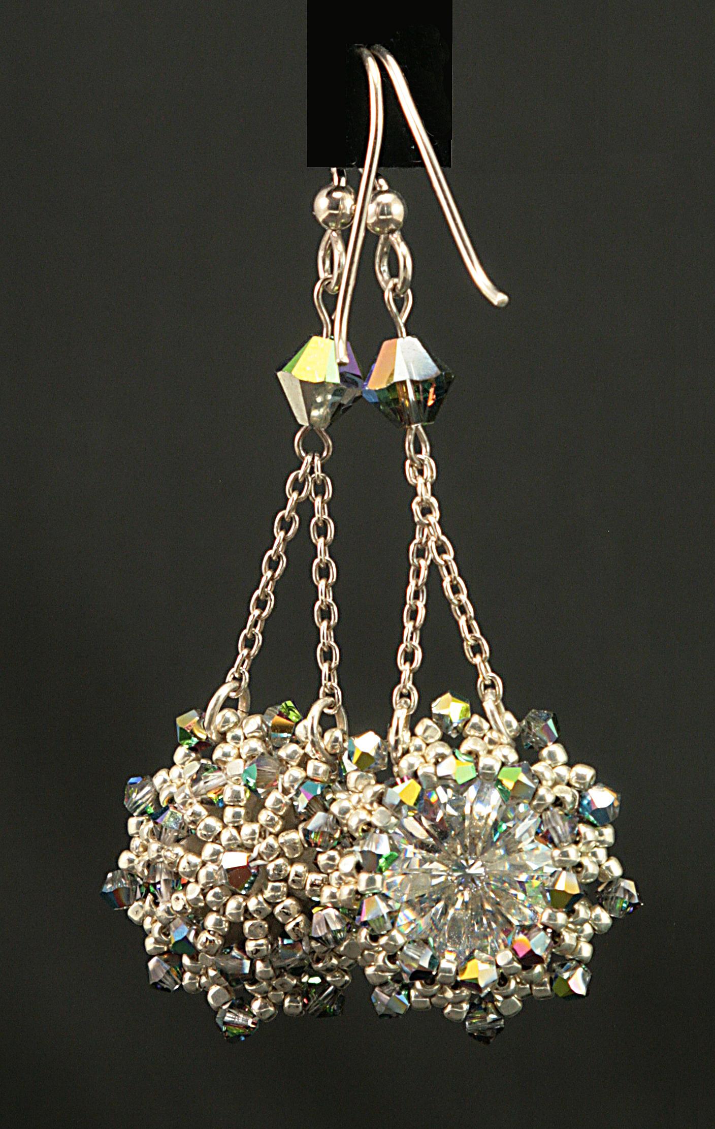 Crystalized Rivoli Earrings