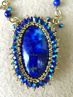 Bead Embroidered Pendant 2
