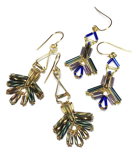 Zoom Class - Deco-Style Fan Earrings