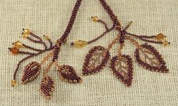 Autumn Leaves & Pods Lariat3