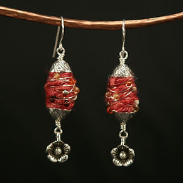 Embellished Fiber Beads