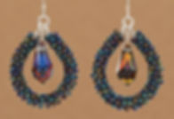 Embellished Coil Briolette Earrings