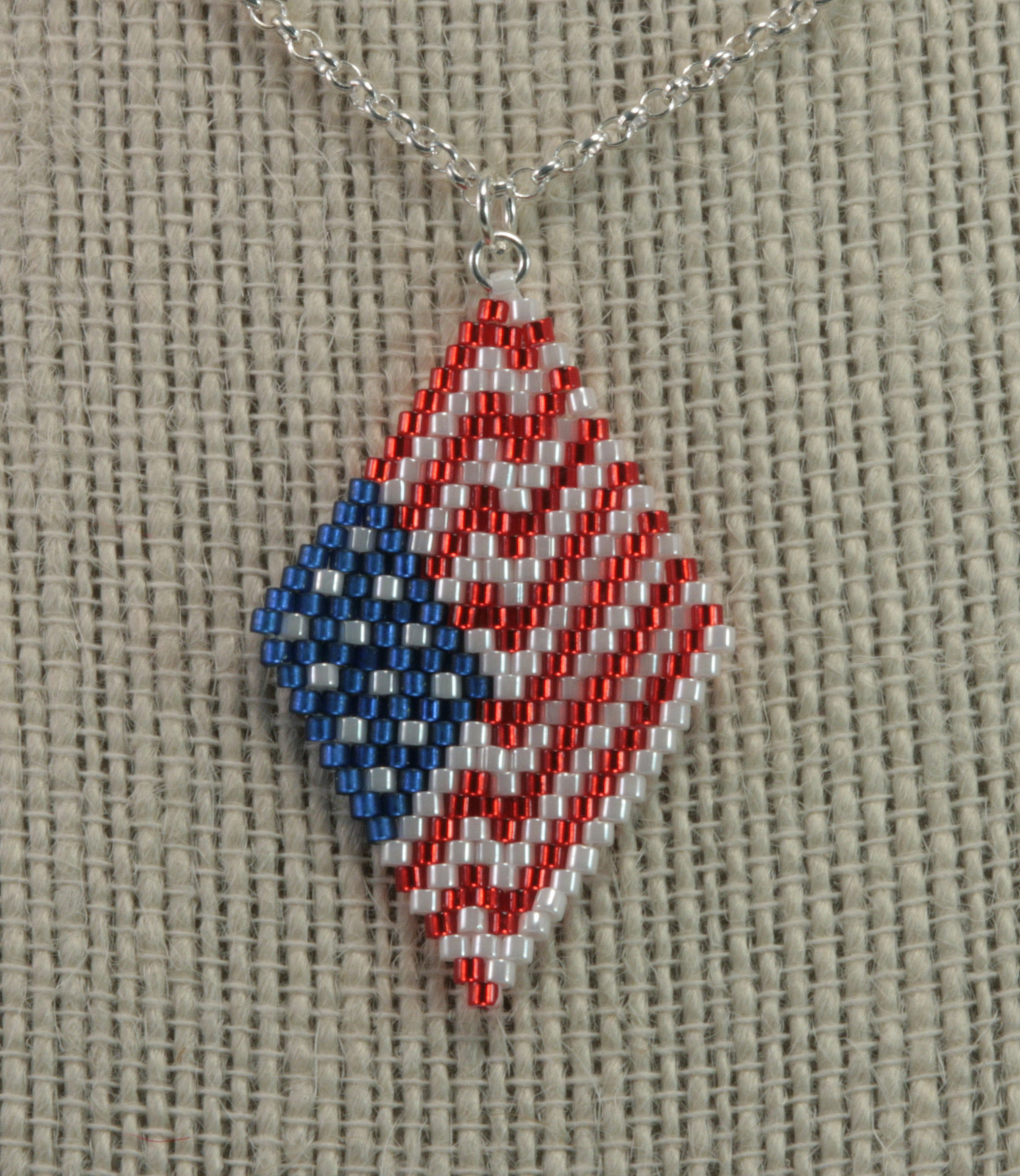 July 4th Chevron Brick Stitch