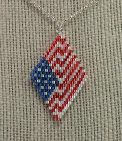 July 4th Chevron Brick Stitch