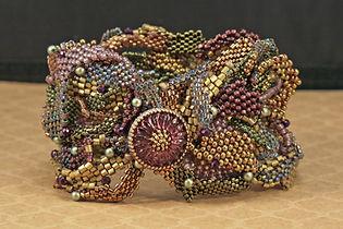 Swirls and Curls Peyote Bracelet