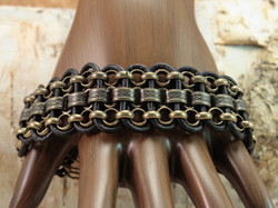 Leather and  Chain