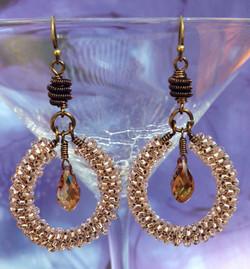 Embellished Coil Earrings