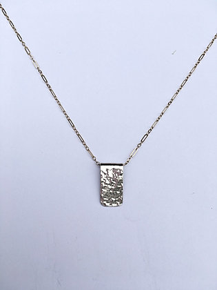 Folded Silver Necklace