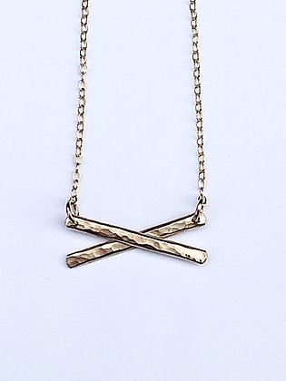 Crisscross Necklace - gold