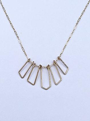 Gold Shapes Necklace - D