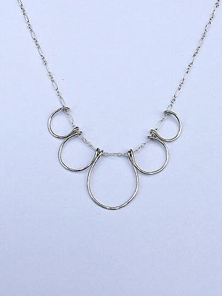 Silver Shapes Necklace - round