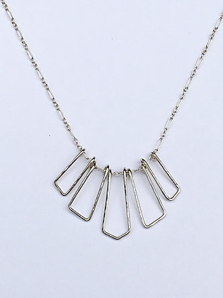 Silver Shapes Necklace -D