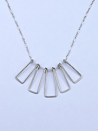 Silver Shapes Necklace - R