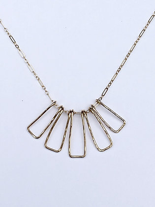 Gold Shapes Necklace - R