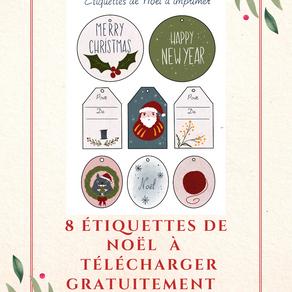 Les étiquettes illustrées de Noël