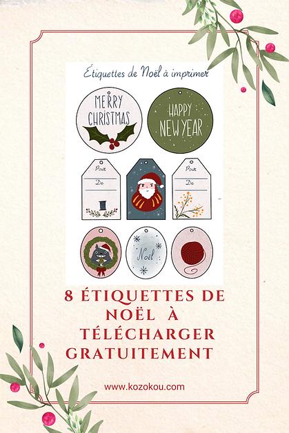 etiquette a telecharger kozokou Noël Épi