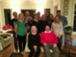 Becky and Gene Carney and their six children and spouses.
