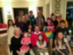 Beck Carney and her fourteen grandchildren