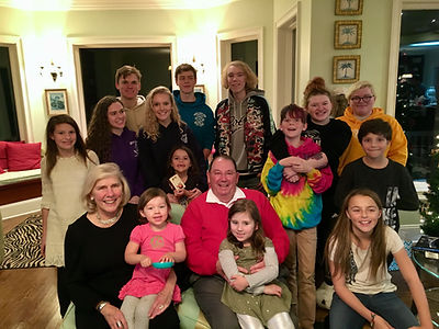 Beck Carney and her fourteen grandchildren