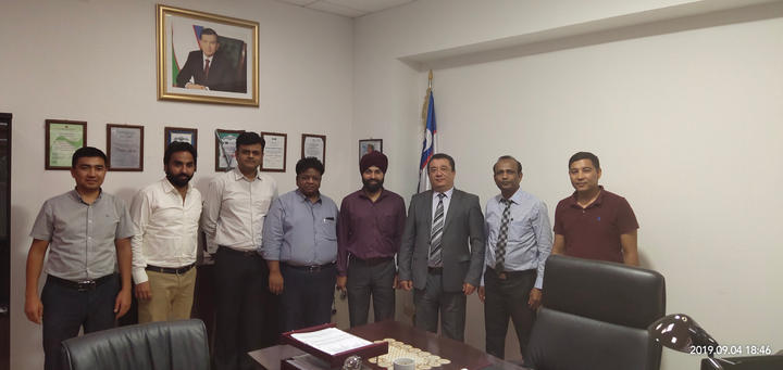Members meeting with Ministry of Transport in Uzbekistan
