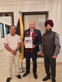 Meeting with H.E. Jason Keats Hall, High Commissioner of Jamaica in India