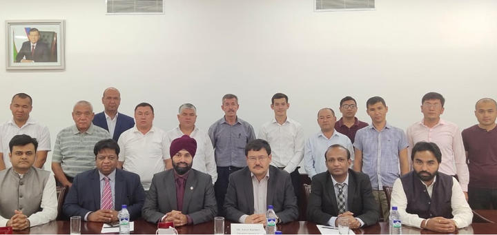 Indian delegation to city of Gulistan Uzbekistan