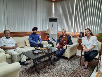 Meeting with Turkish Ambassador to India H.E. Firat Sunel.