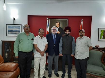 Meeting with H.E. Claudio Ansorena Ambassador of Costa Rica to India