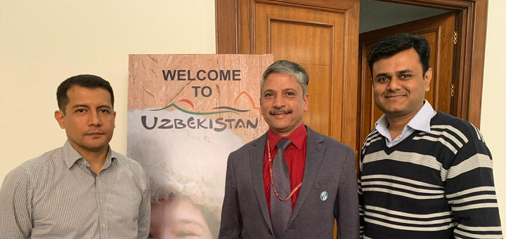 ICIB with Ambassador of Uzbekistan to India