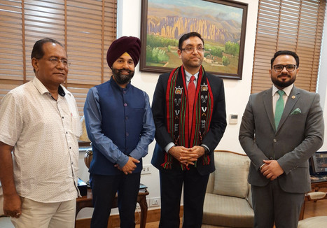 Meeting with Ambassador of I.R. Afghanistan in India H.E. Farid Mamundzay.