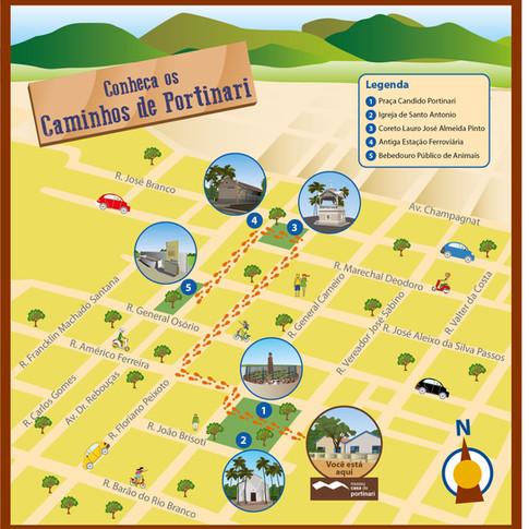 Mapa Caminhos de Portinari